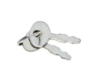 Keys. Small keys on a white background royalty free stock photography