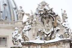 The keys of St. Peter in the snow. Stock Photos