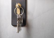 Keys stuck in a lock. Royalty Free Stock Photo