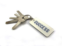The keys of success. A bunch of keys isolated on a white background Royalty Free Stock Photos