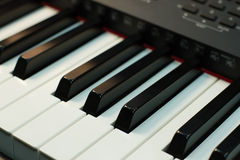 Keys of synthesizer Stock Photos