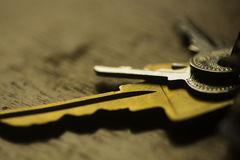 Keys on Table Royalty Free Stock Image