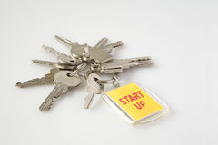 Keys with tag business concept Start up Stock Images