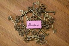 Free Keys To Abundance Royalty Free Stock Photos - 138580928