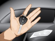 Keys to the car. Stock Photo