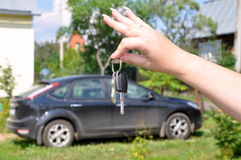 Keys to a car Stock Photo