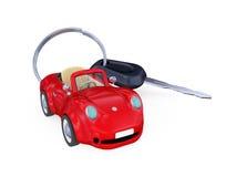 Keys to the car with trinket. Stock Photos