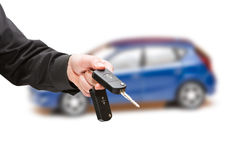 Keys to the car. White background. Stock Image