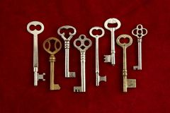Keys to the castle Stock Photos