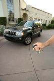 Keys to great things. Holding the keys to great things like a car and home Stock Photography