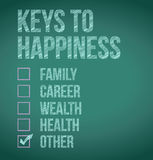Keys to happiness illustration design Royalty Free Stock Photo