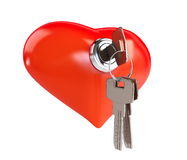 Keys to the Heart. On a white background Royalty Free Stock Photos
