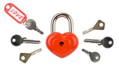 Keys to heart Royalty Free Stock Photos