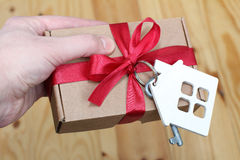 Keys to the house as a gift Stock Image