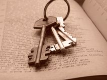 Keys to knowledge Royalty Free Stock Photos