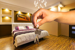 Keys to modern apartment Royalty Free Stock Images