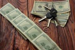 Keys to money Royalty Free Stock Photo