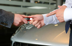 The keys to a new car or buying a new car Stock Photography