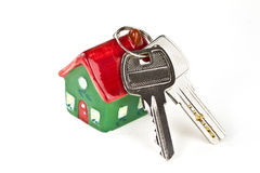 Keys to new home. Isolated on white Stock Images