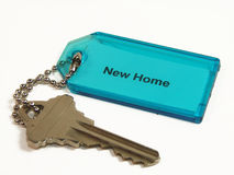 Keys to New Home. Door key to new home Royalty Free Stock Images