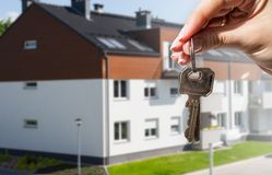 Keys to new house Royalty Free Stock Photography