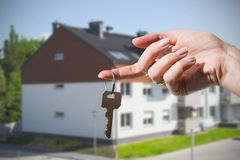 Keys to new house Stock Photo