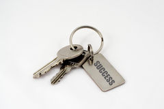 Keys to success. A bunch of keys with success written on the key tag Royalty Free Stock Image