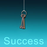 Keys to success Royalty Free Stock Images