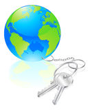 Keys to the world concept Stock Photo