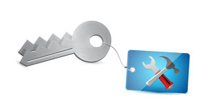 Keys and tools illustration design Royalty Free Stock Image