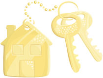 Keys with trinket Stock Photography