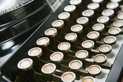 Keys of typewriter Stock Image
