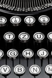 Keys on a typewriter. An old typewriter keyboard. symbolic photo for communication in former times Stock Images