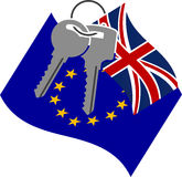 Keys for UK from EU. Vector illustration Stock Photography