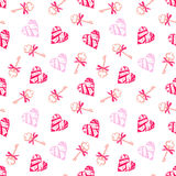Keys from valentines heart seamless vector pattern Stock Image