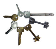 Keys of various form, on a white background Royalty Free Stock Photo