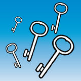 Keys (vector) Royalty Free Stock Images