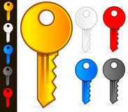Keys Vectors. Stylish, Modern Key Icons in 5 colors Royalty Free Stock Photos