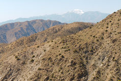 Keys View overlook and snow capped peak Stock Image