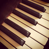 Keys of a vintage piano Stock Photography