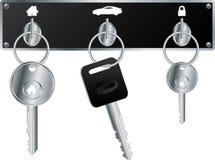 Keys on the wall Stock Image