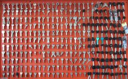 The keys wall texture of department store royalty free stock images