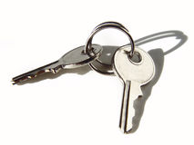 Keys on white royalty free stock images