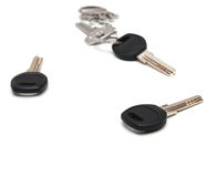 Keys on white background. Royalty Free Stock Photo