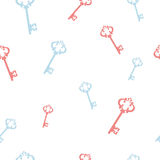 keys on a white seamless background Royalty Free Stock Images