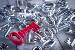 Keys on white wooden Royalty Free Stock Photos