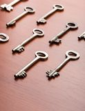 Keys on the wood table Stock Photography