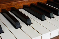 Keys of wooden piano Royalty Free Stock Images