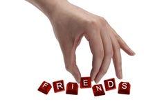 keys the word friends Royalty Free Stock Photos