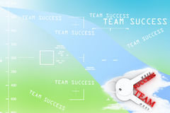 A keys with words team and success , business concept Illustration Stock Image